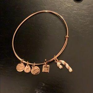 Alex and Ani Candy Cane Bracelet